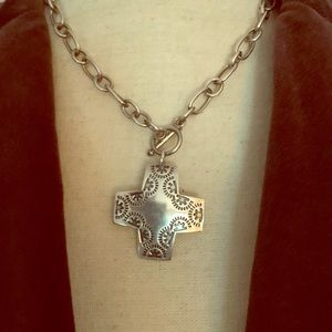 Silpada Virtuosity Cross Pendant Necklace